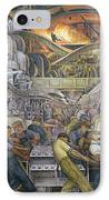 Detroit Industry  North Wall IPhone Case by Diego Rivera