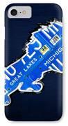 Detroit Lions Football Team Retro Logo License Plate Art IPhone Case by Design Turnpike