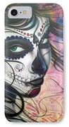 Dia De Los Muertos Chica IPhone Case by Mike Royal