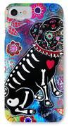 Dia De Los Muertos Pug IPhone Case by Pristine Cartera Turkus