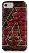 Diamondbacks Baseball Graffiti On Brick  IPhone Case by Movie Poster Prints
