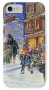 Dickensian Christmas Scene IPhone Case by Angus McBride