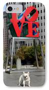 Dog Love IPhone Case by Lisa Phillips