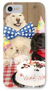 Doggy Birthday Party IPhone Case by Jan Tyler