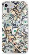Dollar Background IPhone Case by Olivier Le Queinec