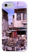 Donkeys In Jokhang Bazaar IPhone Case