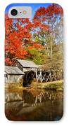 Down By The Old Mill Stream  IPhone Case by Lynn Bauer