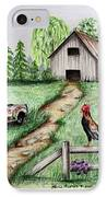 Down On The Farm IPhone Case by Lena Auxier