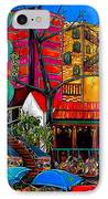 Downtown On The River IPhone Case by Patti Schermerhorn