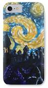 Dr Who Hogwarts Starry Night IPhone Case by Jera Sky