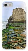 Dramatic Panoramic View Of Shark Fin Cove IPhone Case by Jamie Pham