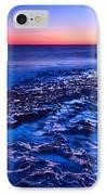 Dramatic Sunset View Of A Sea Stack In Davenport Beach Santa Cruz. IPhone Case by Jamie Pham