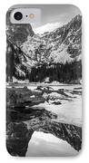 Dream Lake Reflection Black And White IPhone Case
