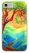 Dreaming Of Bluebells IPhone Case by Jane Small
