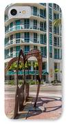 Duenos Do Las Estrellas Sculpture - Downtown - Miami IPhone Case by Ian Monk