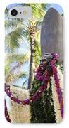 Duke Kahanamoku Covered In Leis IPhone Case