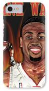 Dwyane Wade IPhone Case by Israel Torres