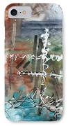 Earth Wind And Fire Abstract Painting Madart IPhone Case by Megan Duncanson