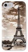 Eiffel Tower In Sepia IPhone Case