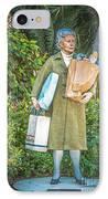Elderly Shopper Statue Key West - Hdr Style IPhone Case