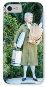 Elderly Shopper Statue Key West IPhone Case