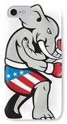 Elephant Mascot Boxer Boxing Side Cartoon IPhone Case