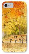 Empty Park On A Fall Day IPhone Case