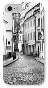 Empty Street In Prague IPhone Case