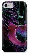 Enigma Purple. Black Art IPhone Case by Jenny Rainbow
