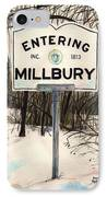 Entering Millbury IPhone Case