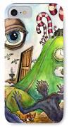 Entering The Lucid Dream IPhone Case by John Ashton Golden