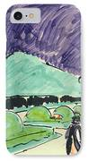 Entrance To A Large Garden In Dresden IPhone Case by Ernst Ludwig Kirchner