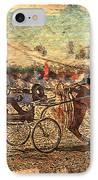 Equestrian Folklore IPhone Case by Ernestine Manowarda