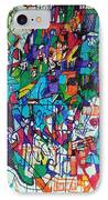 Escape From Hatred 1 IPhone Case by David Baruch Wolk