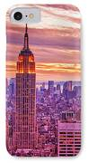 Evening In New York City IPhone Case by Sabine Jacobs