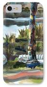 Evening Shadows At Shepherd Mountain Lake  No W101 IPhone Case by Kip DeVore