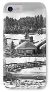 Evergreen Lake House Winter IPhone Case by Ron White
