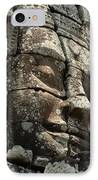 Face At Banyon Ankor Wat Cambodia IPhone Case by Bob Christopher
