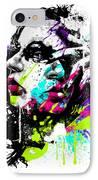Face Paint 1 IPhone Case by Jeremy Scott