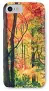 Fall Foliage IPhone Case by Barbara Jewell