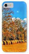 Fall Hayfield IPhone Case