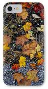 Fall Leaves On Pavement IPhone Case by Elena Elisseeva