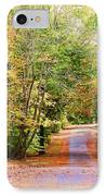 Fall Pathway IPhone Case by Judy Vincent