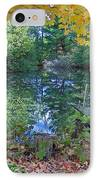 Fall Scene By Pond IPhone Case by Brenda Brown