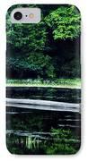 Fallen Log In A Lake IPhone Case by Bill Cannon