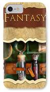 Fantasy Button IPhone Case by Mike Savad