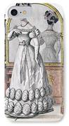 Fashion Plate Of A Lady In Evening IPhone Case