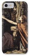 Father Father Tell Me What Ails Thee With Dismay Thou Art Filling Thy Child IPhone Case by Arthur Rackham