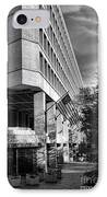 Fbi Building Modern Fortress IPhone Case by Olivier Le Queinec