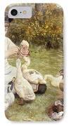 Feeding Ducks IPhone Case